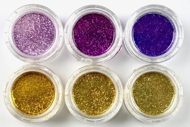 Purple - Gold Glitter