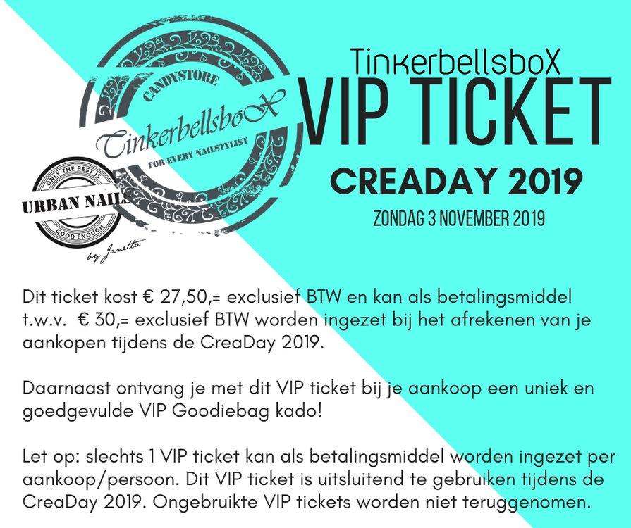 VIP Ticket CreaDay 3 november 2019