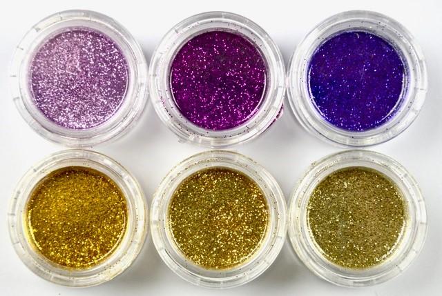 Purple - Gold Glitter