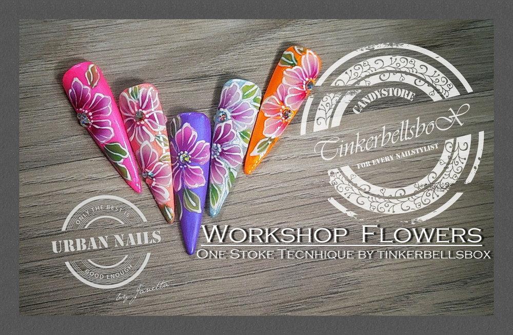 Workshop Flowers One Stroke 10 mei 2019