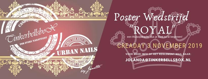 Ticket Poster Wedstrijd Royal Gevorderden CreaDay 3 november 2019