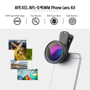 Apexel APL-0.45WM   Wide Angle & Macro Lens